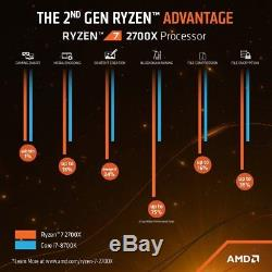 AMD Ryzen 7 2700X 3.7GHz Octa Core AM4 CPU