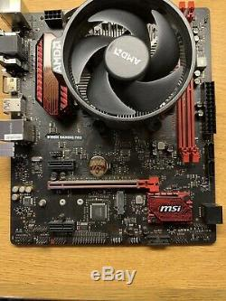 MSI B350M GAMING PRO AM4 Motherboard Combo with AMD RYZEN 5 1500x 3.5 3.7GHz CPU