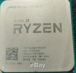 (used with cooler) AMD Ryzen 7 1700X 3.8GHz Eight Core Processor (YD170XBCAEWOF)